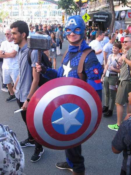 Captain America cosplay.