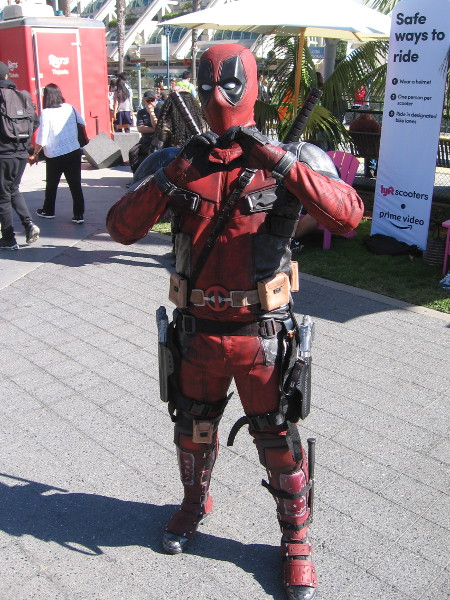 Deadpool cosplay.