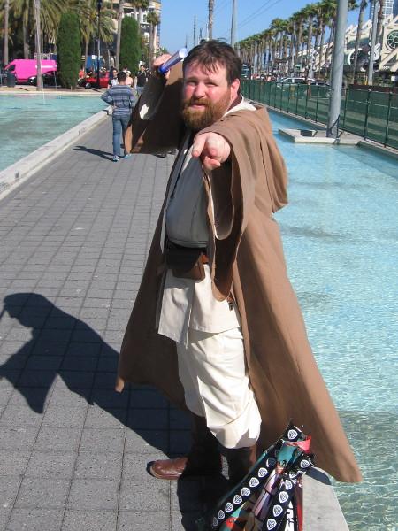 Obi-Wan Kenobi cosplay.