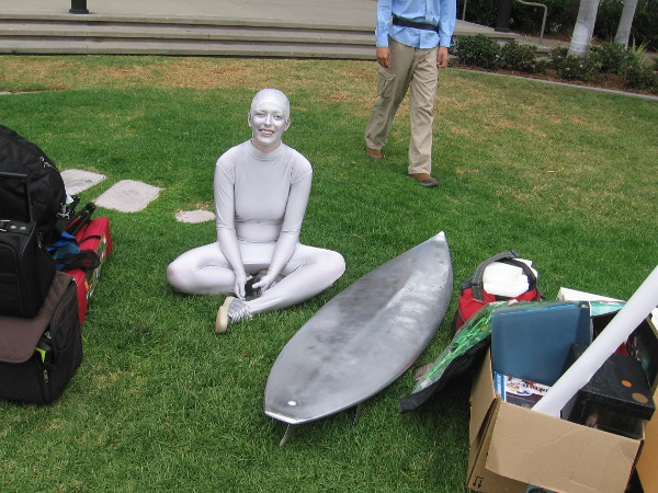 Silver Surfer is taking a moment to rest. I wonder if that means Galactus is coming...