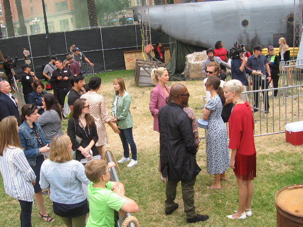 Lennie James, who plays Morgan Jones in The Walking Dead, talks with VIPs at the DeadQuarters offsite during 2019 Comic-Con.