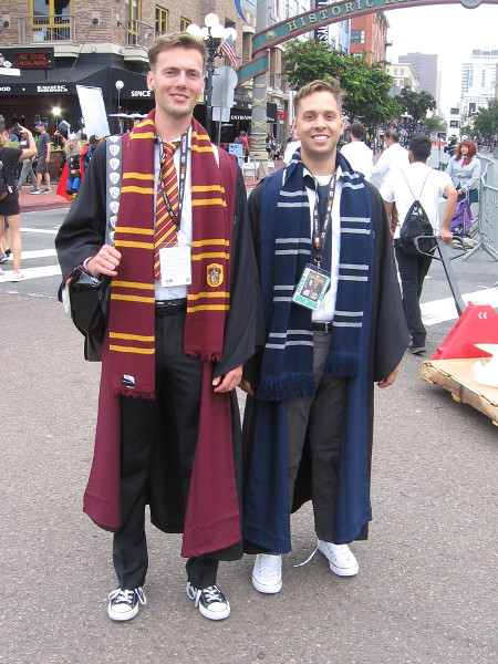 Hogwarts students cosplay. The first guy denied he's Cedric.