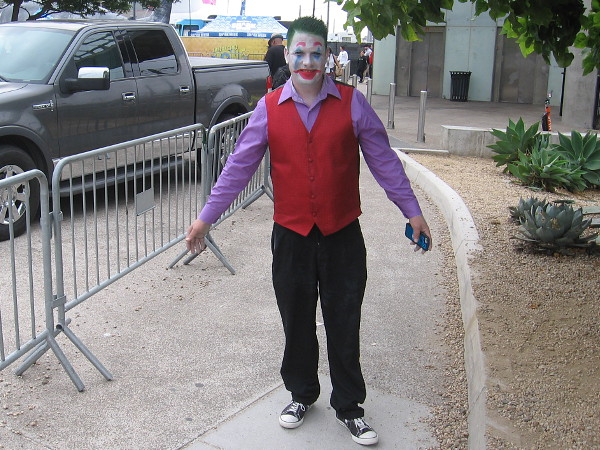 Yikes! Joker spotted me.