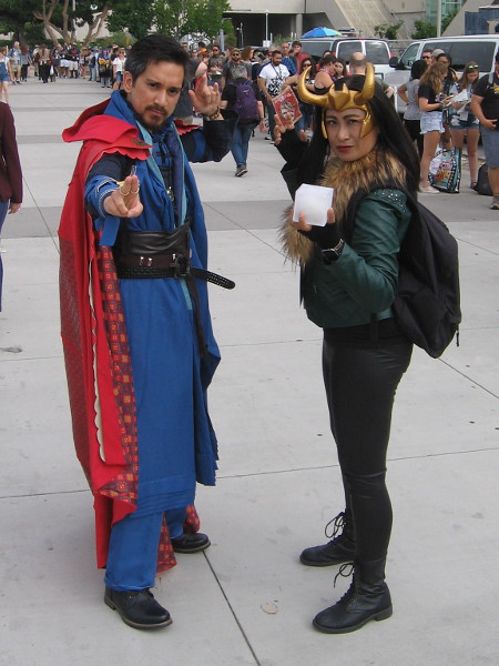 Doctor Strange and Loki cosplay.