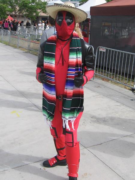 Mexican Deadpool cosplay.