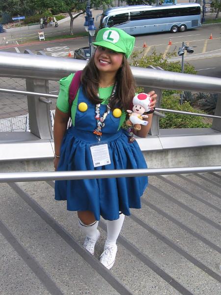 Luigi cosplay.