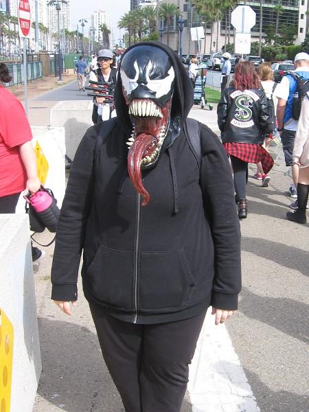 Venom cosplay.