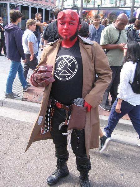 Hellboy cosplay.