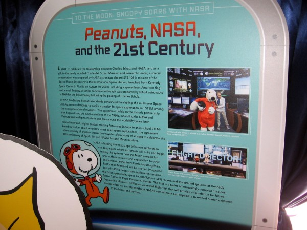 Peanuts, NASA, and the 21st Century. NASA and Peanuts Worldwide have partnered to inspire generations of students to learn about space exploration.