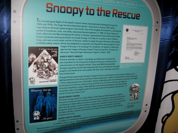 Snoopy to the Rescue. Snoopy became NASA's safety mascot after the fire that killed three Apollo 1 astronauts.