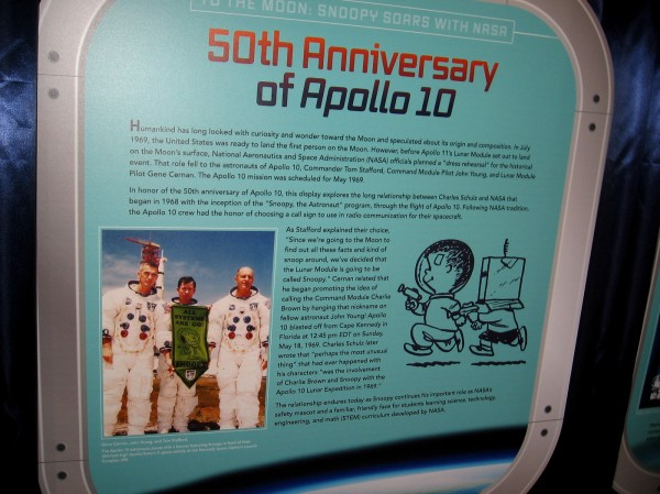50th Anniversary of Apollo 10. The Apollo 10 crew chose the call sign for the lunar module during their mission: Snoopy.