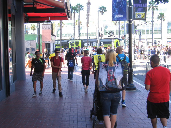 It's Sunday morning at Comic-Con, and pop culture fans are heading to the San Diego Convention Center.