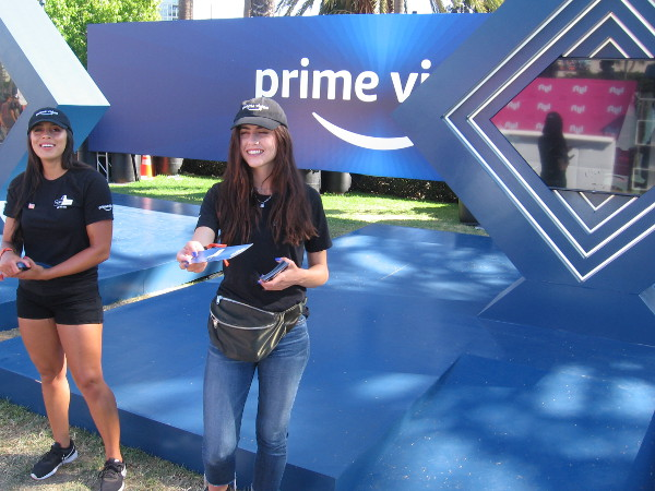 As I walked up MLK Promenade, these nice Amazon Prime Video ladies handed me literature concerning upcoming shows.