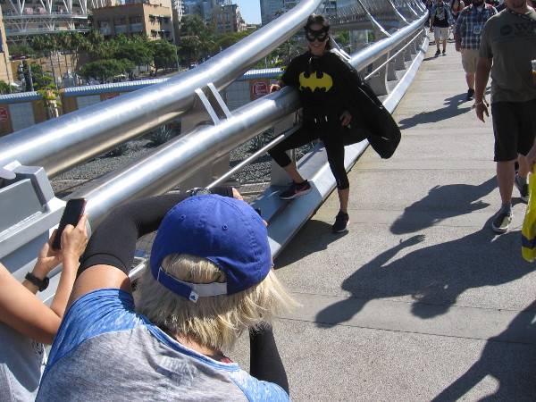 Everyone was photographing Batgirl!