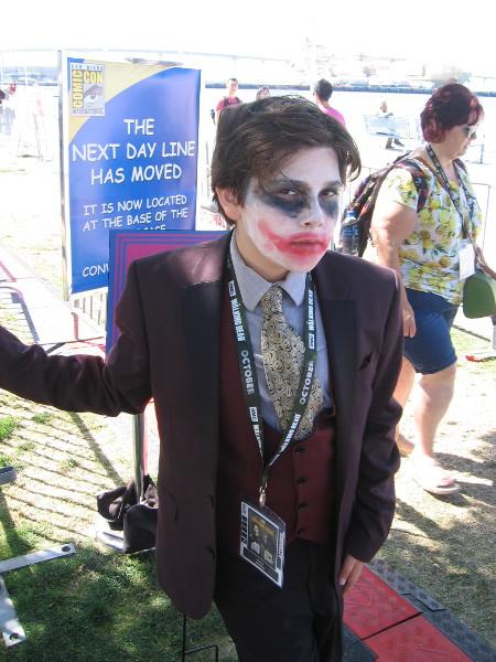 Joker gives me an evil look.