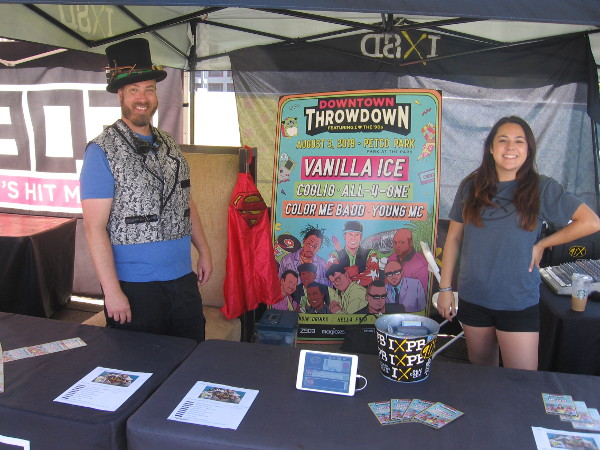 These guys at the 91X radio table in the Interactive Zone smiled for some strange guy taking pictures.