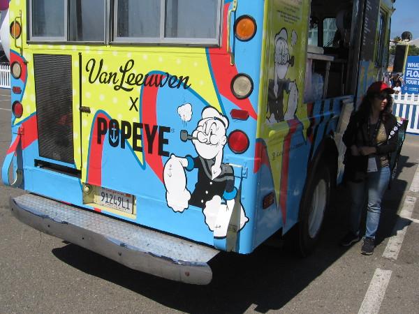 I spied Popeye nearby.