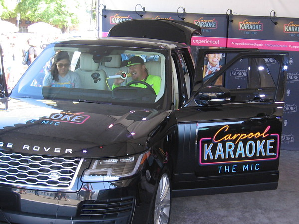 This guy was singing his heart out doing Carpool Karaoke.
