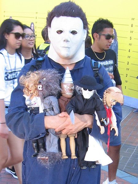 This fellow likes dolls it would seem.