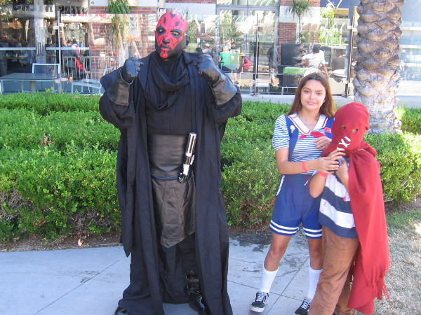 This particular Darth Maul doesn't look so tough. Just saying.