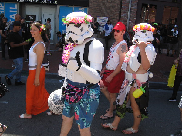 It appears these stormtroopers just got back from a vacation in Hawaii.