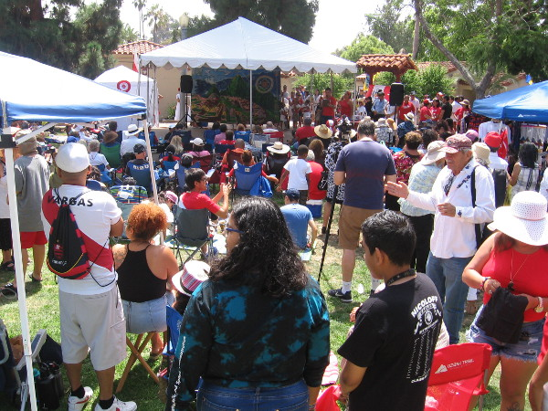 The House of Peru hosted a lawn program today at Balboa Park's International Cottages.