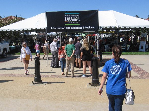 The big San Diego Union-Tribune Festival of Books was held at Liberty Station in Point Loma.