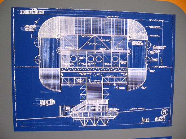 Blueprint of The Silver Ship, designed by Eugene Ray, located at 1699 Nautilus Street in La Jolla, California.