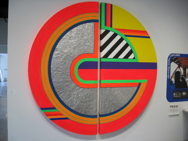 Untitled, Eugene Ray, 1969 (restored 2019). Acrylic and aluminum on canvas.