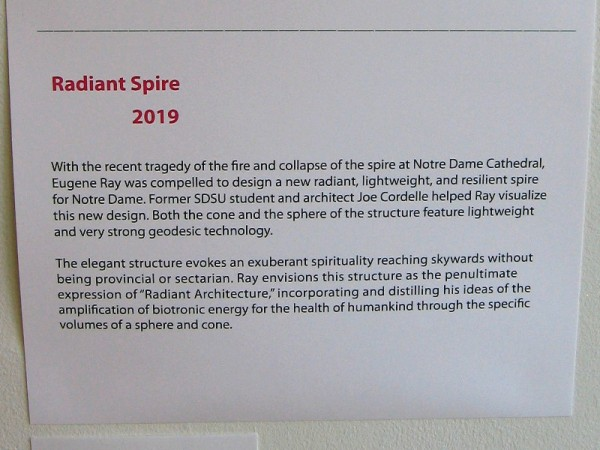 Description of Radiant Spire for Notre Dame Cathedral. The elegant structure evokes an exuberant spirituality reaching skywards...