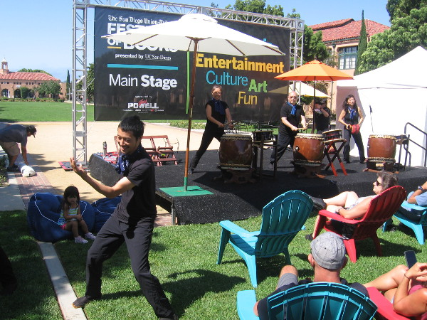 I caught an energetic performance by San Diego Taiko at the festival stage.