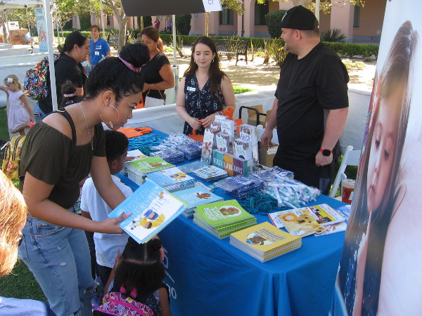 First 5 San Diego was promoting parents reading to their children at a very young age.