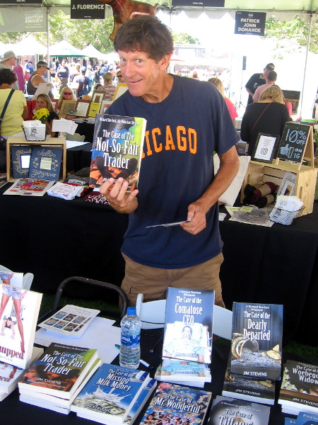 Author Jim Stevens said I couldn't read a few sentences from any page of his novel without laughing. I did . . . and I did!