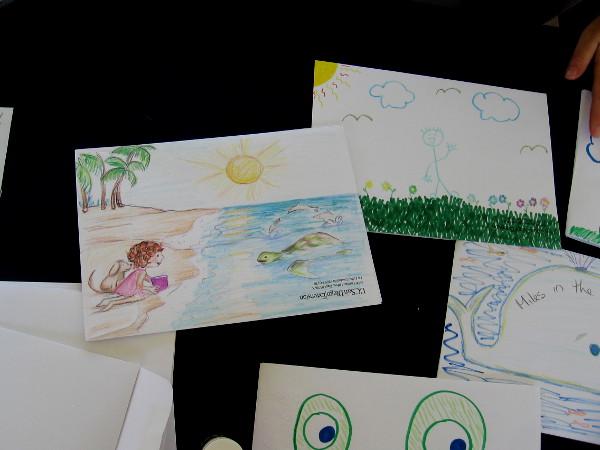 Some fun kids art at their table!