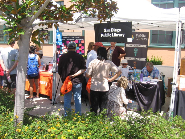 The San Diego Public Library had a booth, plus a nearby bookstore at the festival.