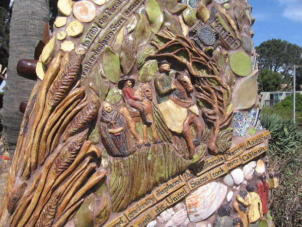The arrival of Spanish missionaries is depicted.