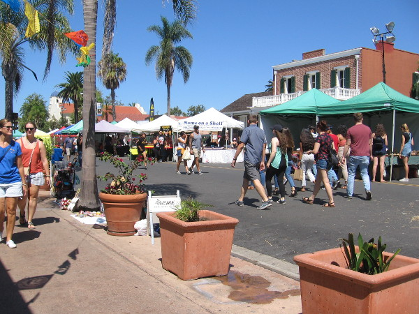 San Diego Avenue was full of color and activity during my walk on the Saturday of Founders Day weekend.
