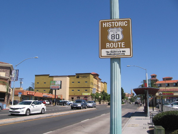 Much of Historic Route US 80 ran where El Cajon Boulevard is today.