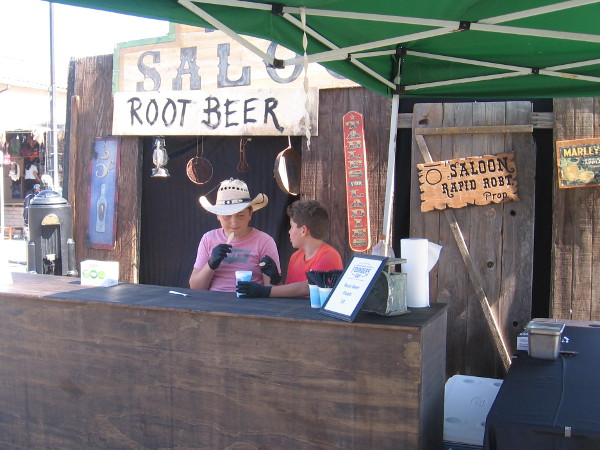 Root beer floats could be enjoyed at this outdoor Western saloon!