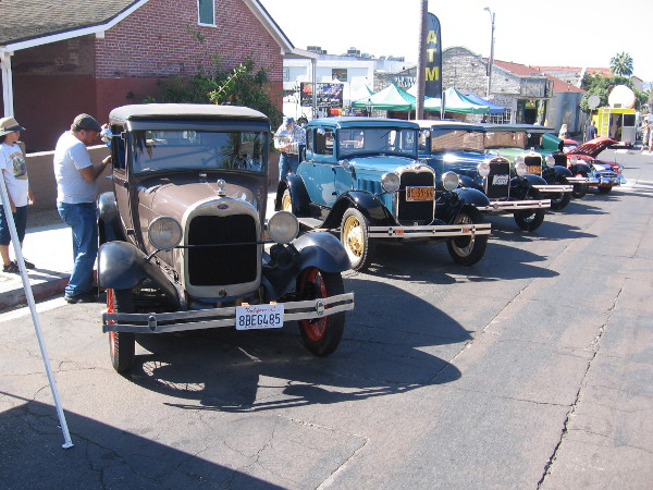 The San Diego Model A Ford Club had lots of vintage cars on display during the event.