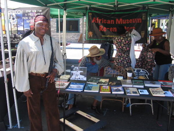 Historical reenactors from Old Town's African Latin Museum participated in Founders Day.