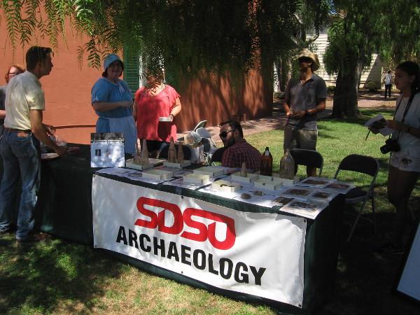 SDSU Archaeology had a table near the Whaley House Museum.