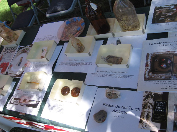 Uncovered artifacts included bottles and various household items common in early San Diego.