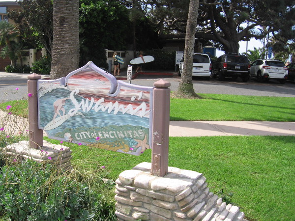 I've arrived at the entrance to Swami's Beach, which was mentioned in the Beach Boys' song Surfin' U.S.A..