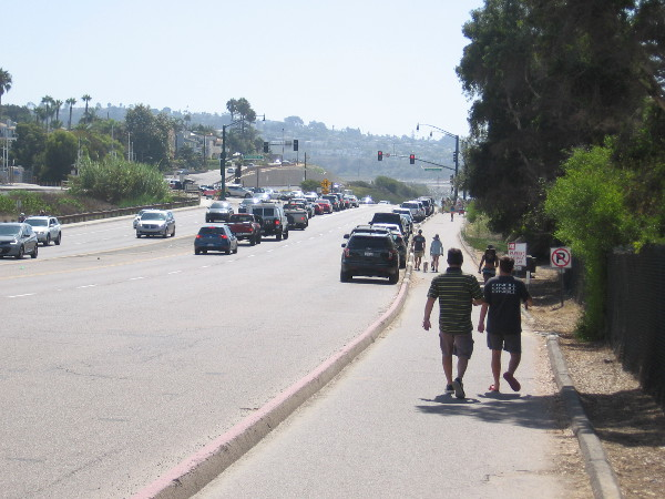 Continuing south along Coast Highway 101, approaching Chesterfield Drive.