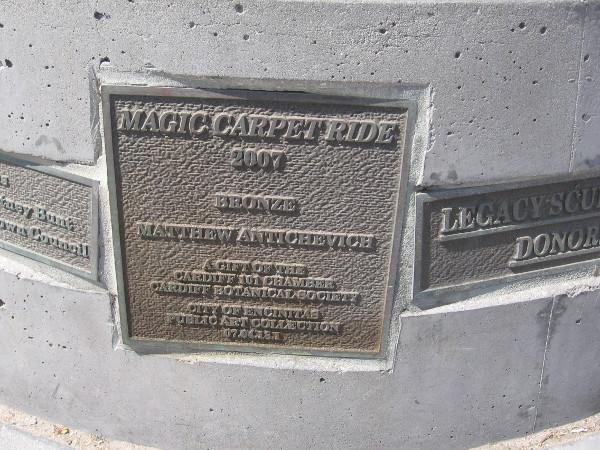 Magic Carpet Ride, 2007, bronze, Matthew Antichevich.