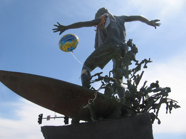 If the balloon is any indication, the Cardiff Kook must be celebrating a birthday.