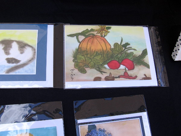 Among other beautiful works of art, I found a Japanese brush painting of a pumpkin!