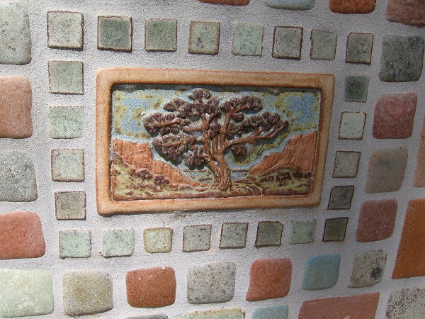 More beautiful artwork, at the north end of Solana Beach's Coastal Rail Trail.