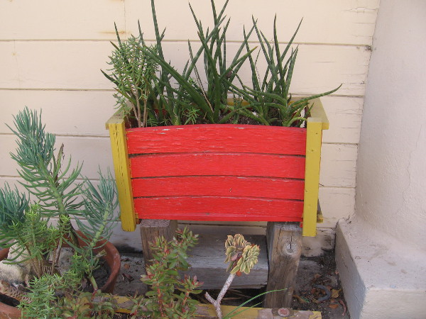 Even the planters in Spanish Village are bright with color!